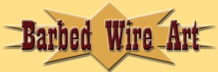 Our Barbed Wire Art Logo, We have been selling our Art Sculptures since 2004